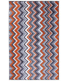 RugStudio presents Mohawk Home New Wave Ziggidy Tangerine Machine Woven, Good Quality Area Rug