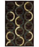 RugStudio presents Mohawk Home New Wave Ring Rows Brown Machine Woven, Good Quality Area Rug