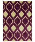 RugStudio presents Mohawk Home Woodgrain Stylin Ogee Purple Machine Woven, Good Quality Area Rug