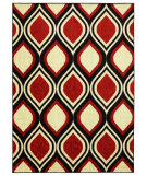RugStudio presents Mohawk Home Woodgrain Stylin Ogee Retro Machine Woven, Good Quality Area Rug