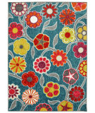 RugStudio presents Mohawk Home Woodgrain Flower Medallions Kaleidoscope Machine Woven, Good Quality Area Rug