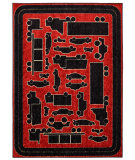 RugStudio presents Mohawk Home Woodgrain Fast Lane Red Machine Woven, Good Quality Area Rug