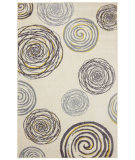 RugStudio presents Mohawk Home Free Flow Swirlz Yellow Machine Woven, Good Quality Area Rug