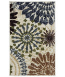 RugStudio presents Mohawk Home Free Flow Floral Multi Machine Woven, Good Quality Area Rug