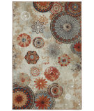 RugStudio presents Mohawk Home Outdoor/Patio Alexa Medallion Multi Machine Woven, Good Quality Area Rug