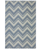 RugStudio presents Mohawk Home Outdoor/Patio Pool Zig Zag Blue Machine Woven, Good Quality Area Rug