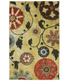 RugStudio presents Mohawk Home Strata Yellow Medallion Multi Machine Woven, Good Quality Area Rug