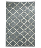 RugStudio presents Mohawk Home Strata Fancy Trellis Gray Machine Woven, Good Quality Area Rug