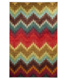 RugStudio presents Mohawk Home Strata Painted Zig Zag Multi Machine Woven, Good Quality Area Rug