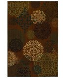 RugStudio presents Mohawk Home Kaleidoscope Spanish Inspiration Brown Machine Woven, Good Quality Area Rug