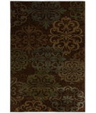 RugStudio presents Mohawk Home Cachet Abstract Lace Brown Machine Woven, Good Quality Area Rug
