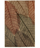 RugStudio presents Mohawk Home Aria Fossil Leaves Multi Machine Woven, Good Quality Area Rug