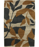 RugStudio presents Mohawk Home Versaille Botanical Gold / Ash Grey Machine Woven, Good Quality Area Rug