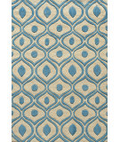RugStudio presents Rugstudio Sample Sale 87535R Blue Hand-Tufted, Good Quality Area Rug