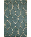 RugStudio presents Rugstudio Sample Sale 87545R Teal Hand-Tufted, Better Quality Area Rug