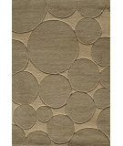 RugStudio presents Famous Maker Circular 91921 Putty Machine Woven, Good Quality Area Rug