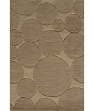 RugStudio presents Famous Maker Circular 91922 Fawn Machine Woven, Good Quality Area Rug