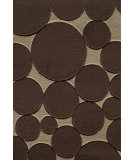RugStudio presents Famous Maker Circular 91923 Chocolate Machine Woven, Good Quality Area Rug