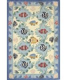 RugStudio presents Momeni Coastal CC-01 Blue Hand-Hooked Area Rug