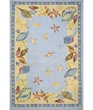 RugStudio presents Momeni Coastal CC-04 L.Blue Hand-Hooked Area Rug