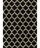 RugStudio presents Momeni Geo Geo-4 Black Hand-Hooked Area Rug