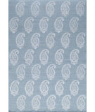 RugStudio presents Momeni Lace Lac-1 Soft Blue Woven Area Rug