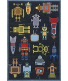 RugStudio presents Momeni Lil Mo Whimsy LMJ-1 Steel Blue/Multi Hand-Tufted, Best Quality Area Rug