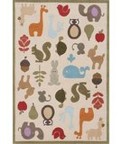 RugStudio presents Momeni Lil Mo Whimsy LMJ-2 Ivory/Multi Hand-Tufted, Best Quality Area Rug
