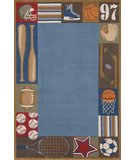 RugStudio presents Momeni Lil Mo Whimsy LMJ-4 Denim/Multi Hand-Tufted, Best Quality Area Rug