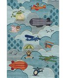 RugStudio presents Momeni Lil Mo Whimsy LMJ10 Sky Hand-Tufted, Best Quality Area Rug
