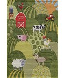 RugStudio presents Momeni Lil Mo Whimsy LMJ11 Grass Hand-Tufted, Best Quality Area Rug