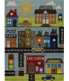 RugStudio presents Momeni Lil Mo Whimsy Lmj12 Town Hand-Tufted, Best Quality Area Rug