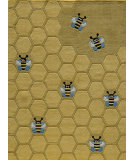 RugStudio presents Momeni Lil Mo Whimsy Lmj15 Honeycomb Gold Hand-Tufted, Best Quality Area Rug