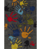 RugStudio presents Momeni Lil Mo Whimsy Lmj17 Grey/Multi Hand-Tufted, Good Quality Area Rug