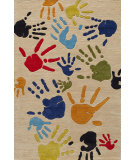 RugStudio presents Momeni Lil Mo Whimsy Lmj17 Ivory/Multi Hand-Tufted, Good Quality Area Rug