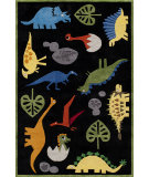 RugStudio presents Momeni Lil Mo Whimsy Lmj18 Black/Mutli Hand-Tufted, Good Quality Area Rug