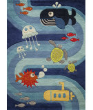 RugStudio presents Momeni Lil Mo Whimsy Lmj21 Blue Hand-Tufted, Best Quality Area Rug