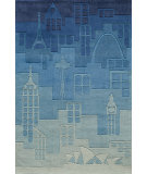 RugStudio presents Rugstudio Sample Sale 65861R Blue Hand-Tufted, Good Quality Area Rug