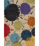 RugStudio presents Momeni Lil Mo Hipster Lmt-9 Ivory/Multi Hand-Tufted, Good Quality Area Rug