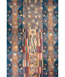 RugStudio presents Momeni New Wave NW-02 Blue/Multi Hand-Tufted, Best Quality Area Rug