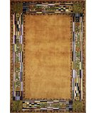 RugStudio presents Momeni New Wave NW-03 Gold Hand-Tufted, Best Quality Area Rug
