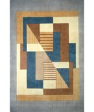 RugStudio presents Momeni New Wave NW-06 Blue Hand-Tufted, Best Quality Area Rug