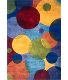 RugStudio presents Momeni New Wave NW-37 Blue/Multi Hand-Tufted, Best Quality Area Rug