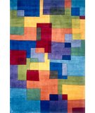 RugStudio presents Momeni New Wave NW-49 Blue/Multi Hand-Tufted, Best Quality Area Rug