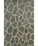 RugStudio presents Rugstudio Sample Sale 46098R Teal Hand-Tufted, Best Quality Area Rug