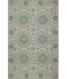 RugStudio presents Rugstudio Sample Sale 75094R Aqua Hand-Hooked Area Rug