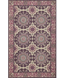 RugStudio presents Momeni Suzani Hook Szi-1 Purple Hand-Hooked Area Rug