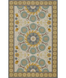 RugStudio presents Momeni Suzani Hook Szi-2 Blue Hand-Hooked Area Rug