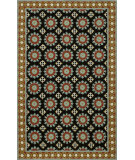 RugStudio presents Rugstudio Sample Sale 75101R Black Hand-Hooked Area Rug