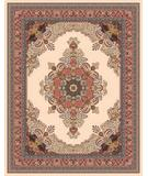 RugStudio presents Moren Rugs Emerald Firuze G18 Biege with Rose Machine Woven, Best Quality Area Rug